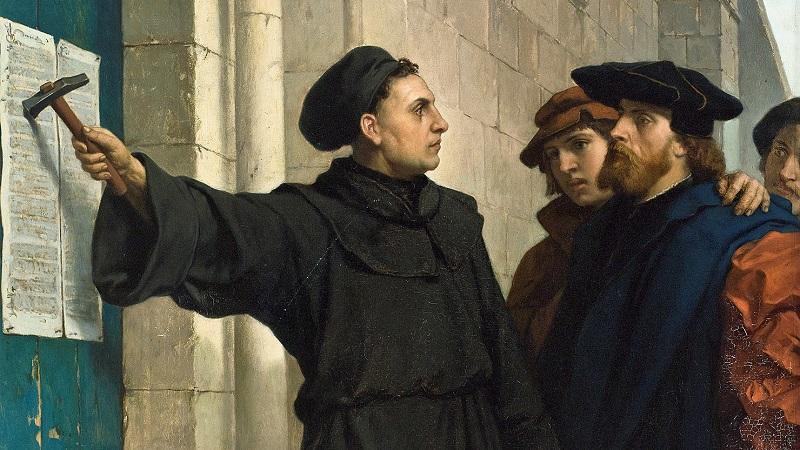 Martin Luther pribija 95 teza na vrata crkve